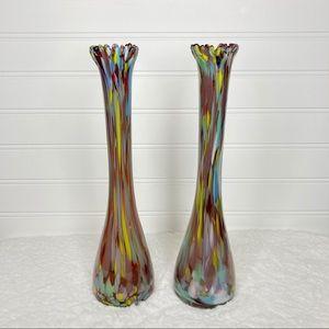 Handmade Genuine Handblown Bud Vase